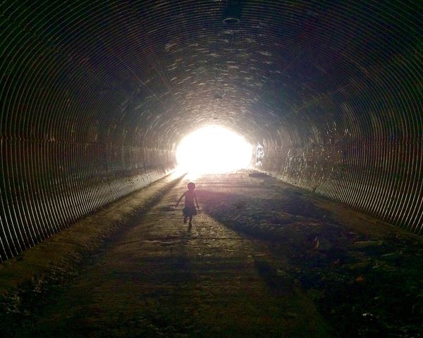 Light At The End Of The Tunnel Light Tunnel Silhouette