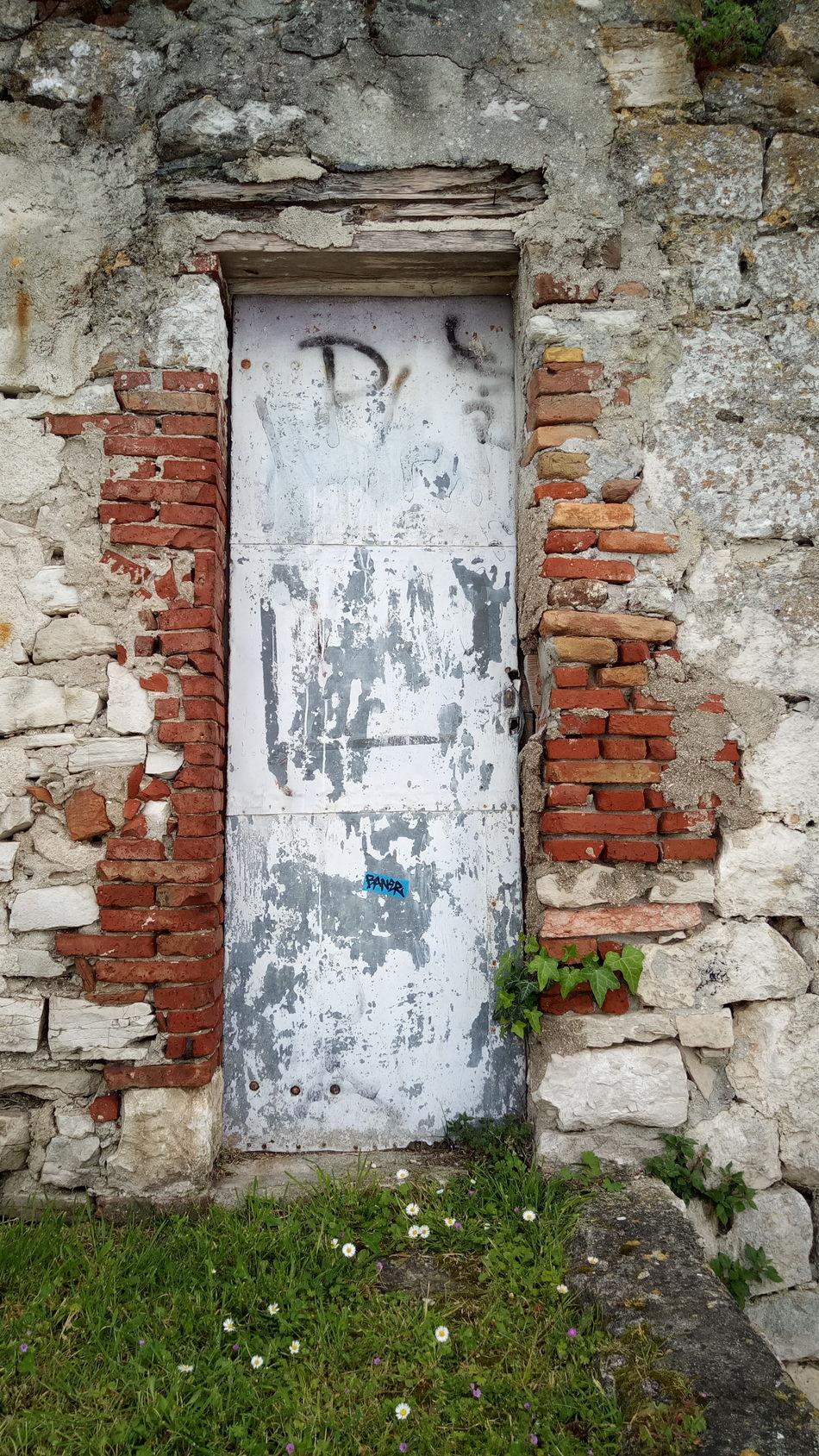 Built Structure Building Exterior Old House Wall - Building Feature Door Bricks Stones