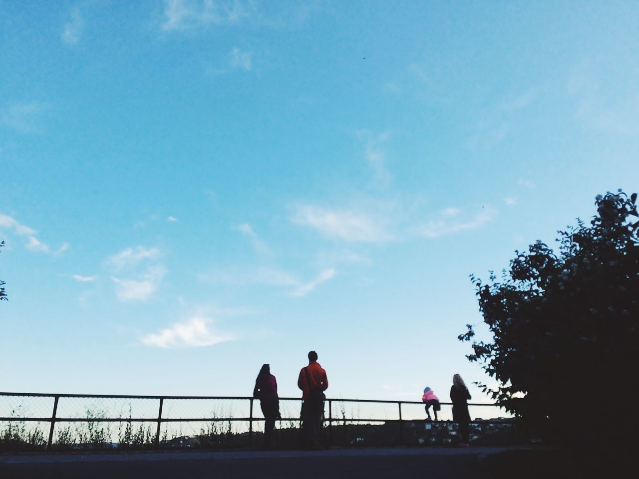 sky, togetherness, men, real people, friendship, leisure activity, walking, women, lifestyles, love, nature, silhouette, outdoors, day, people, adult