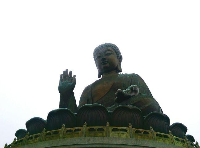 Hong Kong HongKong Tian Tan Buddha Tian Tan Tian Tan Buddha (Giant Buddha) 天壇大佛 Buddhist Temple Buddha Tourist Tourist Attraction  Cloudy Day Cloudy Sky
