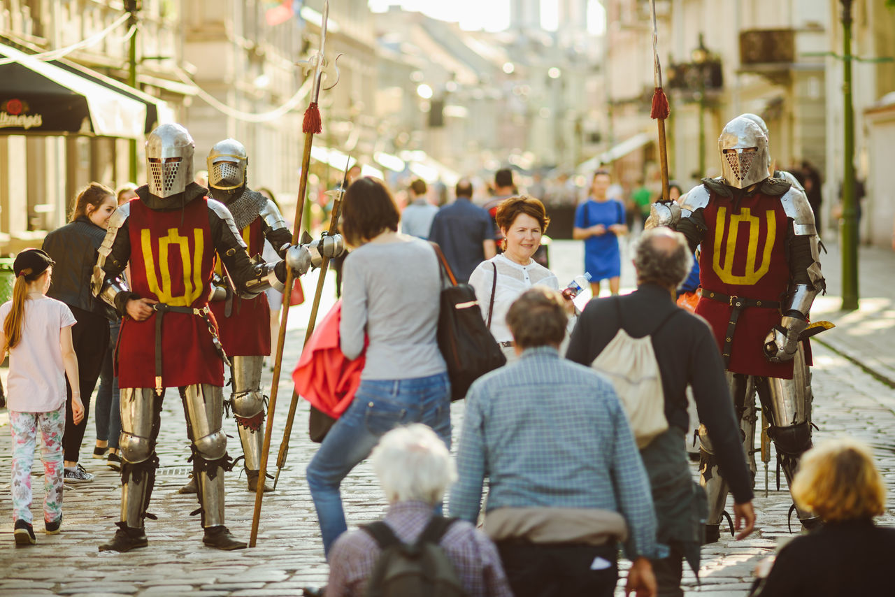 Kaunas Hanseatic days 2017 Adult City Day Europe Events Festive Knights Large Group Of People Men Outdoors People Real People Spring Street Life Sunny Day The Photojournalist - 2017 EyeEm Awards
