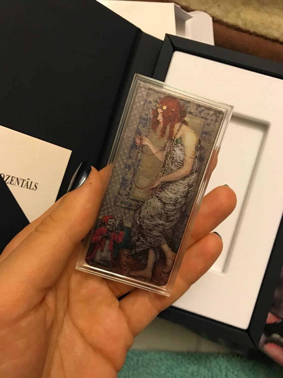 Silver coin Women Art ArtWork Janis Rozentals Art Is Everywhere