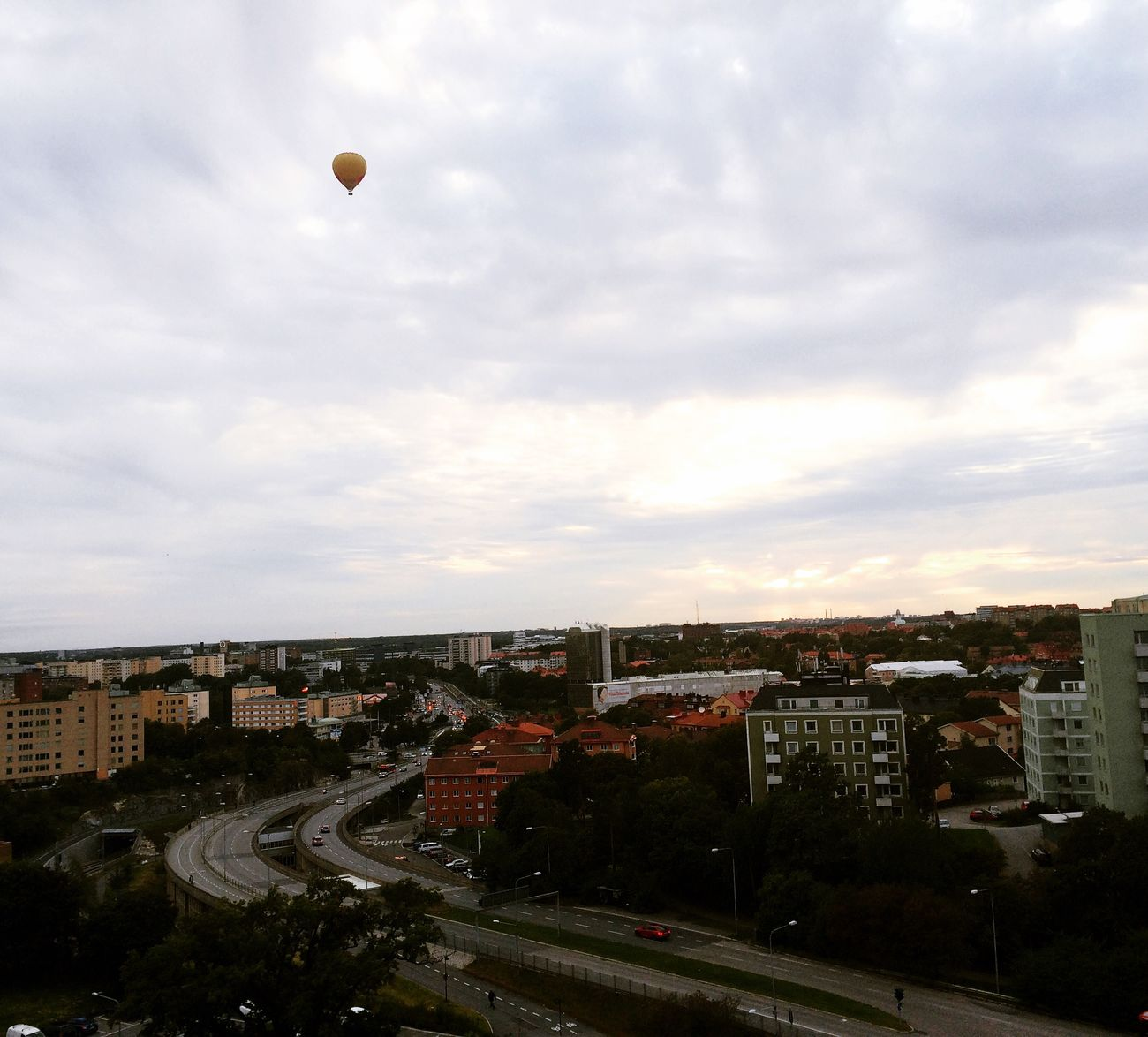 Hagalund Solna Stockholm Sweden Swedish Baloons Autumn Gray Clouds Sverige
