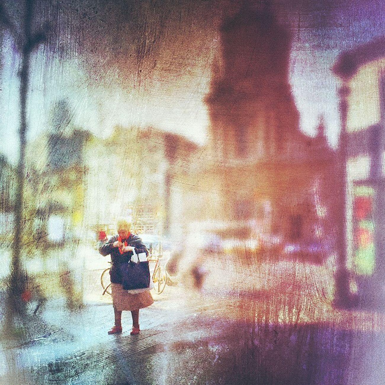 Small Scenes Of Life Lady Cold Days Street Walking City Alone Lonely