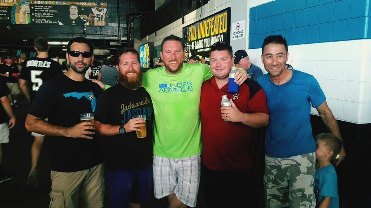 Me and some buddies at the Jags game! Hanging Out Football