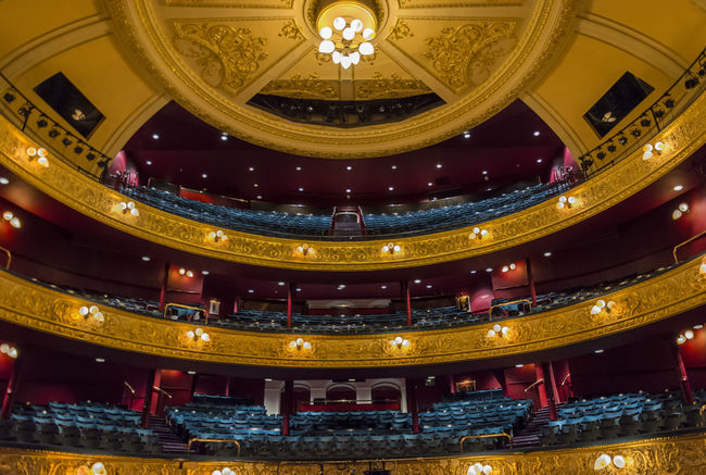 Auditorium Architecture Architecture Auditorium Built Structure Ceiling Illuminated Indoors  Low Angle View Opéra Ornate Theatre Royal, Glasgow