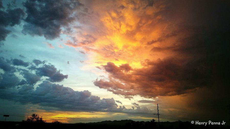 Sunset Sky And Clouds Tucson Arizona  EyeEm Best Shots - Sunsets + Sunrise Samsung Galaxy S5 Skyporn Sky_collection EyeEm Best Shots Desert Landscape Desert Beauty