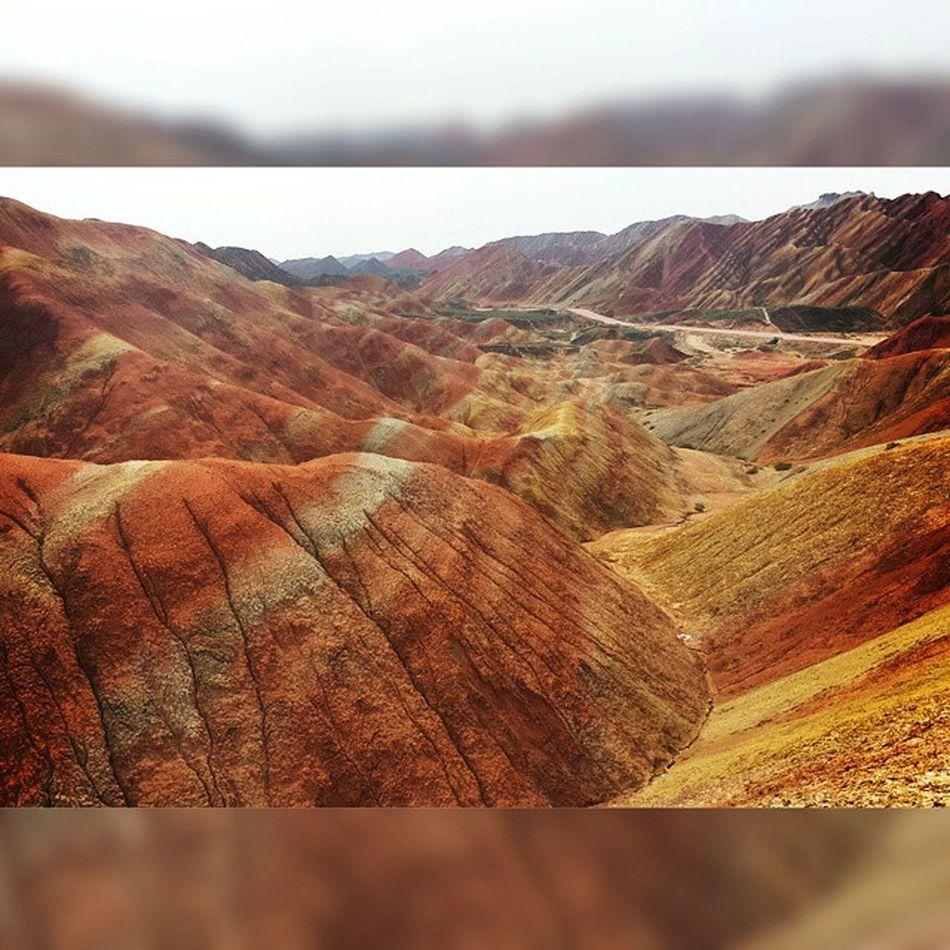 Zhangye  Danxia Geopark Gansu China Rainbow Mountains Chaitour