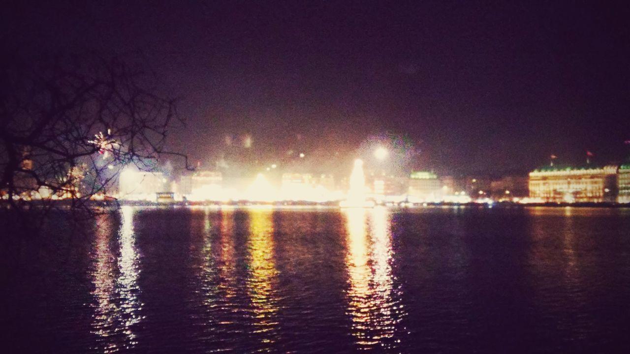 Hamburg at Sylvester-Night Hamburg Alster Night Night Lights Water Water Reflections Sylvester