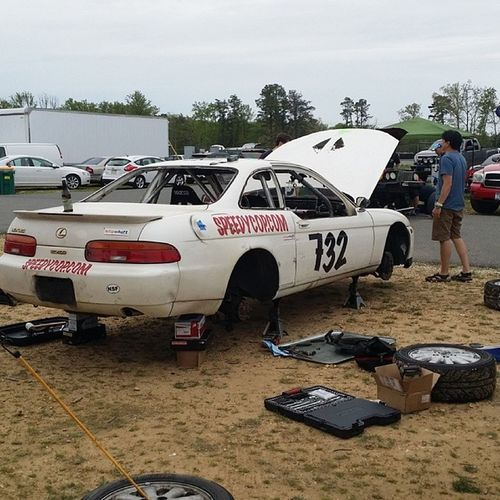 Awesome first day running the @blipshift @speedyvap Lexus SC400 at the @24hoursoflemons ... now the night shift