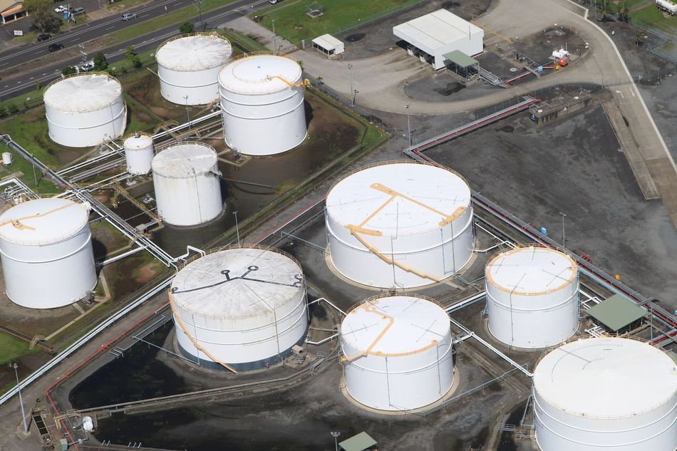 Day Fuel And Power Generation High Angle View Industry No People Oil Tanks Outdoors Refinery