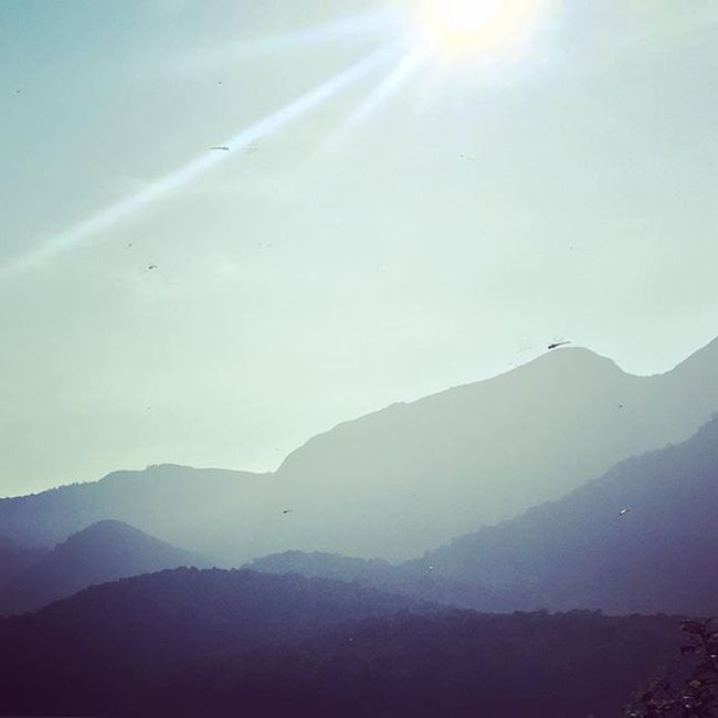 Mountain Mountain Range Scenics Tranquility Sunbeam Beauty In Nature Nature Landscape Remote Dawn Fog Day Mist Sky Physical Geography Non-urban Scene Majestic Layers Layers And Colors Blue Sky