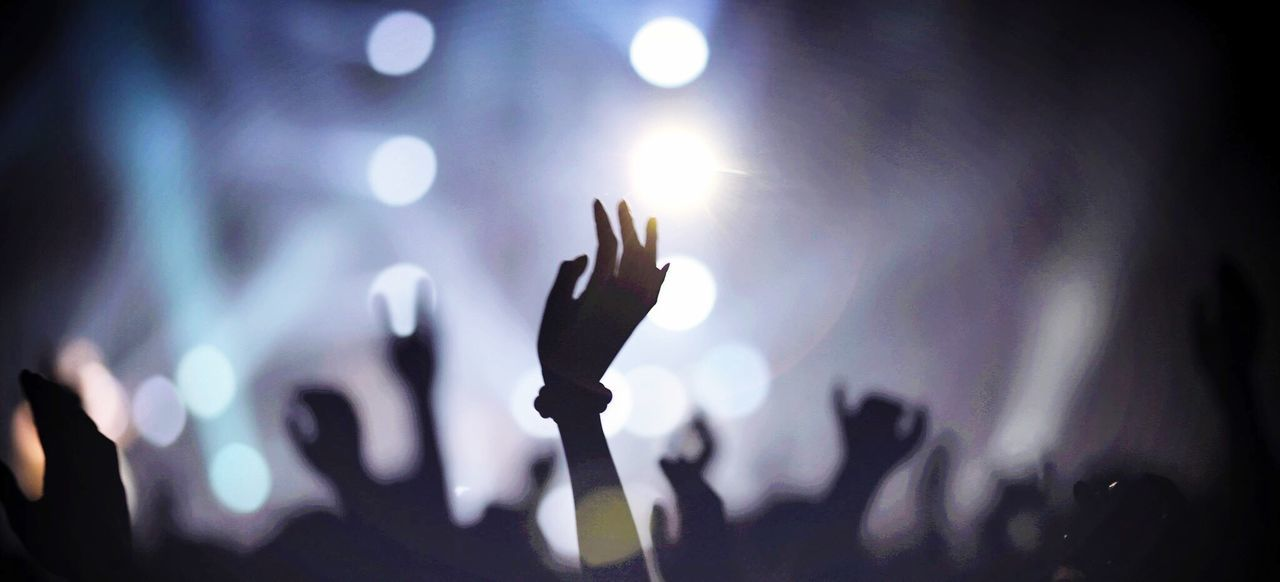 Beautiful stock photos of music festival, Arms Raised, Arts Culture And Entertainment, Audience, Carefree