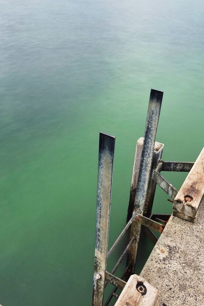 Open invite Calm Calmness Calm Water Jetty Turquoise Ladder Ladder To Water Edge Slow Shutter