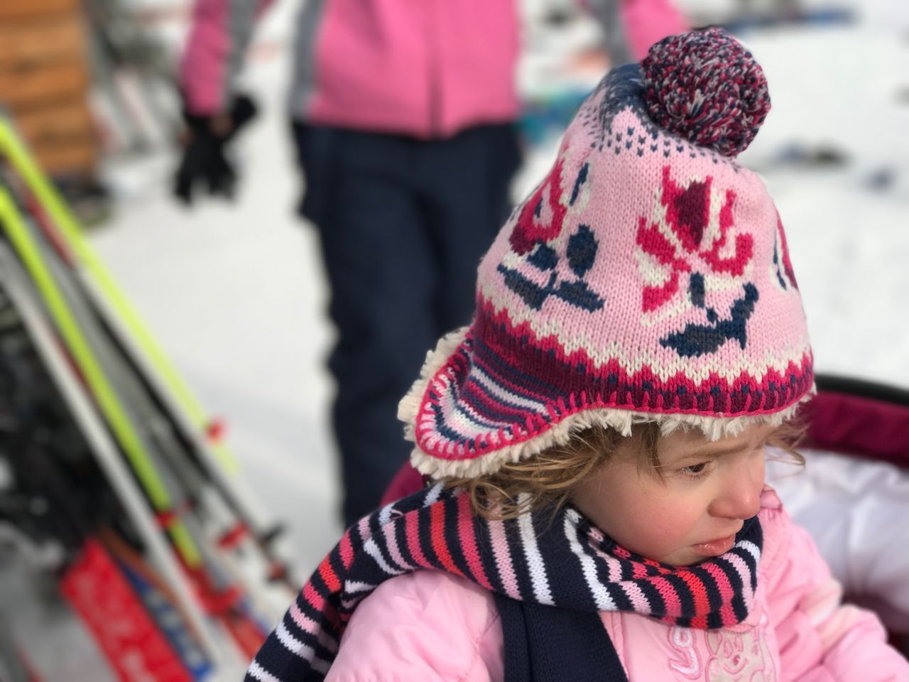 Toddler  Toddlerlife Winter Snow Knit Hat Real People Red Focus On Foreground One Person Warm Clothing Close-up Childhood Outdoors Day People