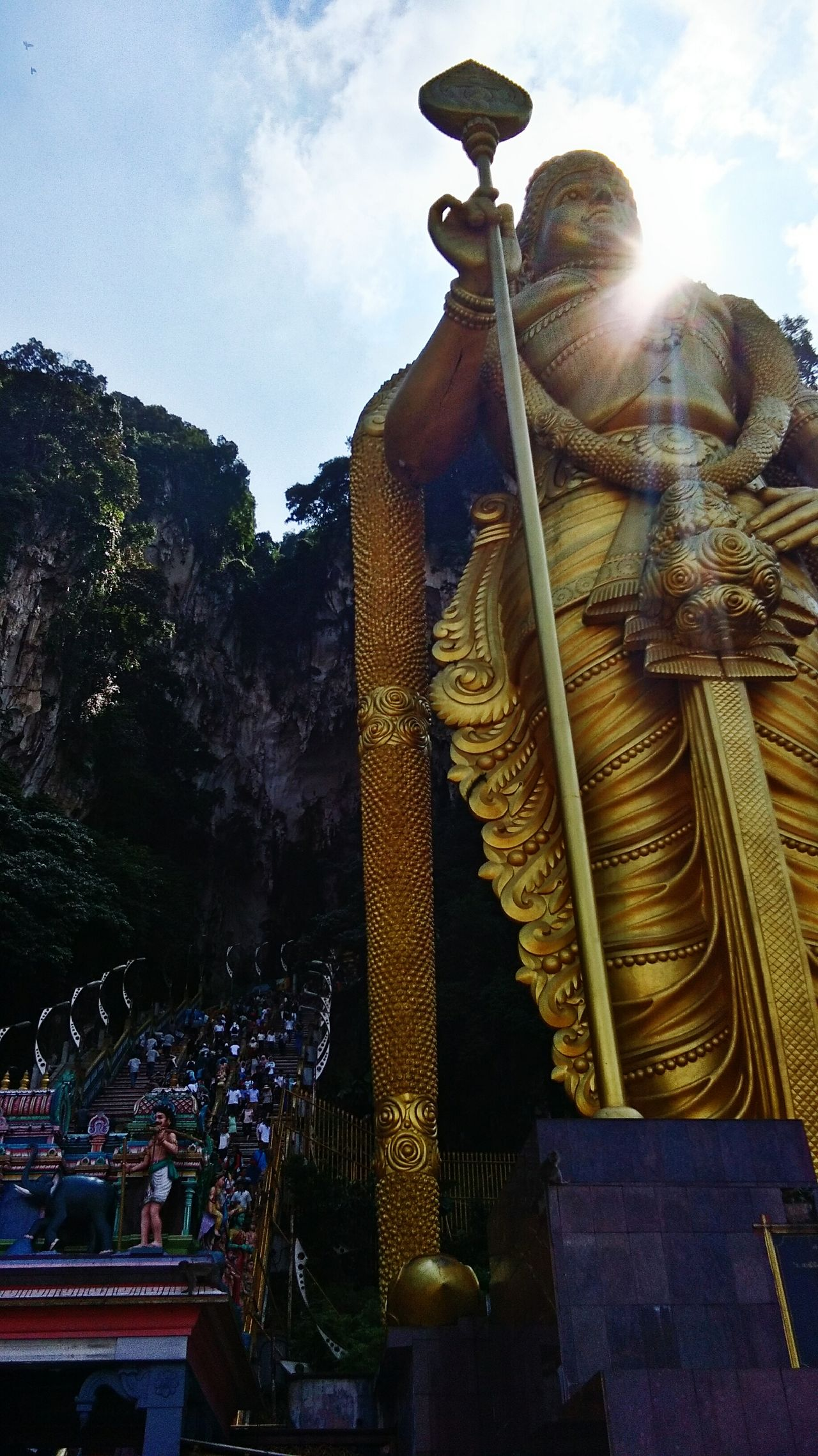 43 Golden Moments Batu Caves Lordmuruga Malaysia Indiantemple Goldenstatue Showcase July Tourist Attraction