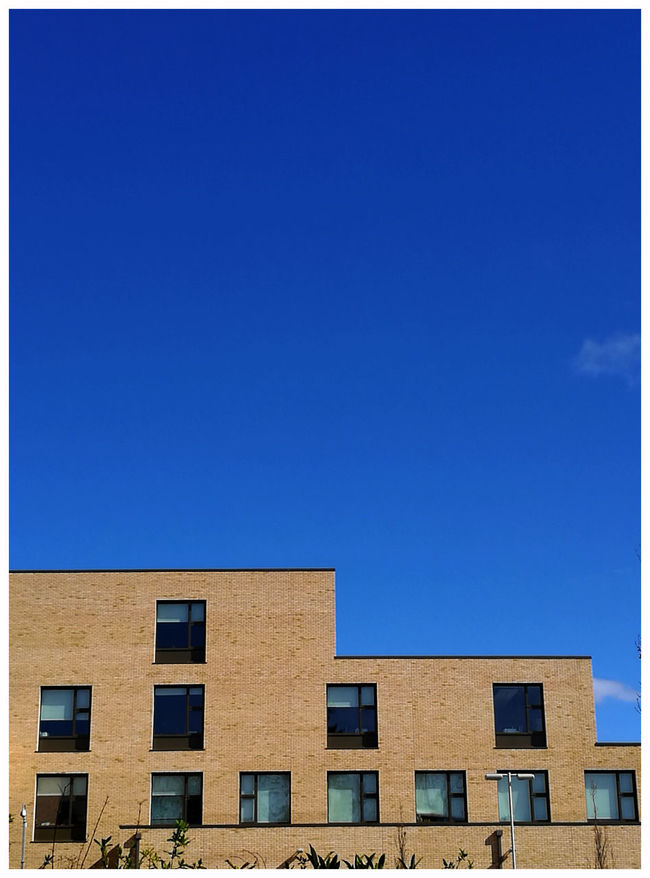 Architecture Building Exterior Blue Built Structure Clear Sky Outdoors Dundee Scotland Tourism Attractions Education The Harris Academy Education Windowsbrickwork Steps