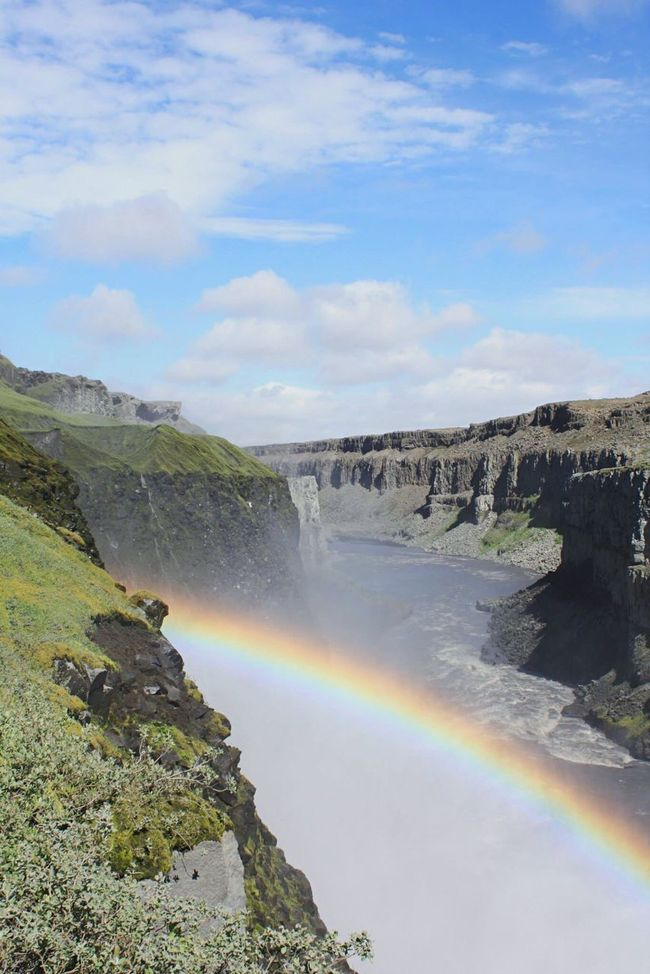 Islande Water Waterfall Scenics Rainbow Beauty In Nature Sky Non-urban Scene Travel Destinations Nature Idyllic River Tranquility Geology Day Flowing Physical Geography Multi Colored Remote Flowing Water
