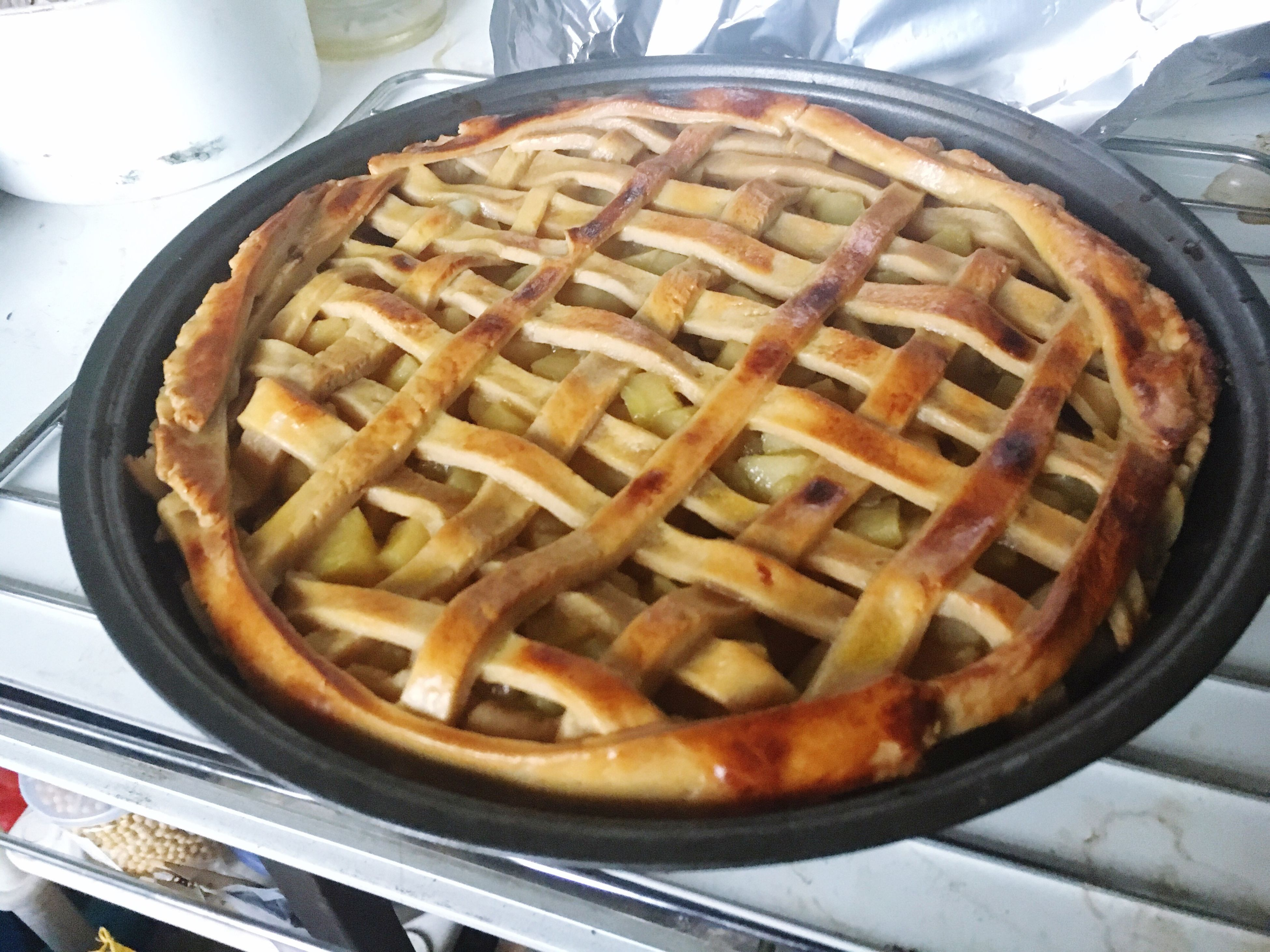 food and drink, food, freshness, indoors, sweet food, waffle, high angle view, temptation, dessert, ready-to-eat, indulgence, no people, unhealthy eating, tart - dessert, homemade, close-up, sweet pie, day