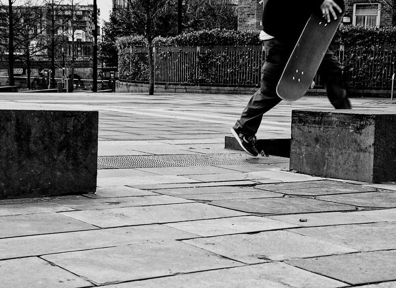 Skate in the city Out Of The Box Low Section Real People One Person Day Lifestyles Human Leg Men Outdoors Walking Leisure Activity Tree One Man Only Full Length Human Body Part Only Men Adult People Adults Only Skateboarding Sneakers Person City Blackandwhite Moments Of Life