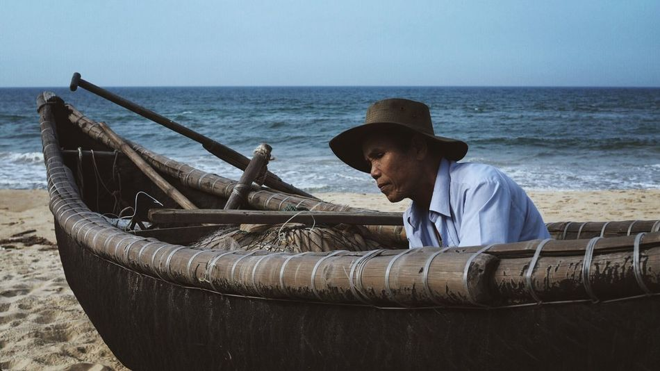 Beautiful stock photos of vietnam, occupation, men, one person, sea