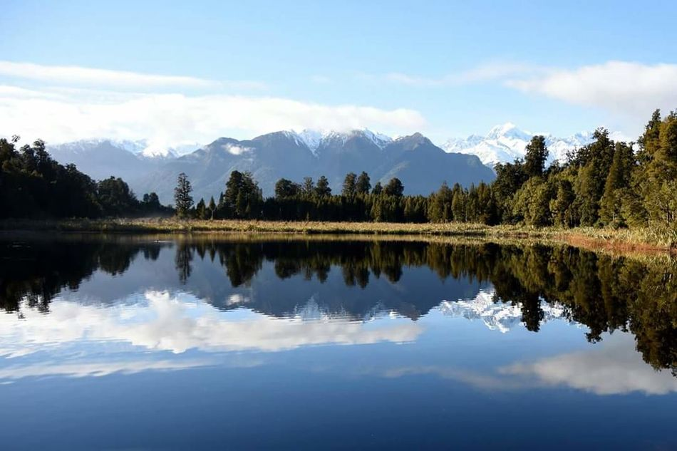 New Zealand Beauty New Zealand New Zealand Sky New Zealand Adventures New Zealand Landscapes New Zealand Landscape New Zealand Scenery New Zealand Natural Mountain Fox Glacier Lake Matheson Reflection