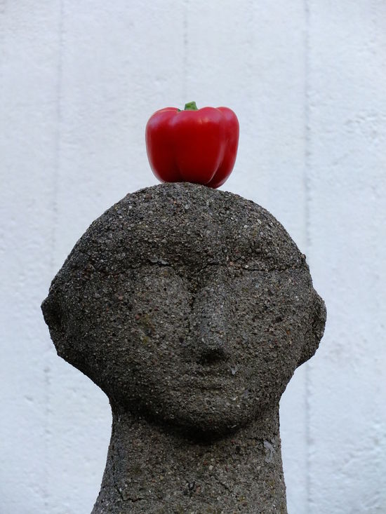 Anthropomorphic Face Art And Craft Close-up Day Human Representation No People Outdoors Pepper Red Sculpture Statue Art Is Everywhere EyeEmNewHere Mix Yourself A Good Time Berlin Love The Week On EyeEm