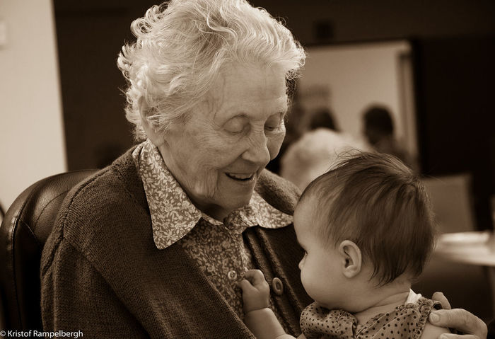 Bonding Childhood Headshot Holding Indoors  Love People Real People Senior Adult Senior Women Two People