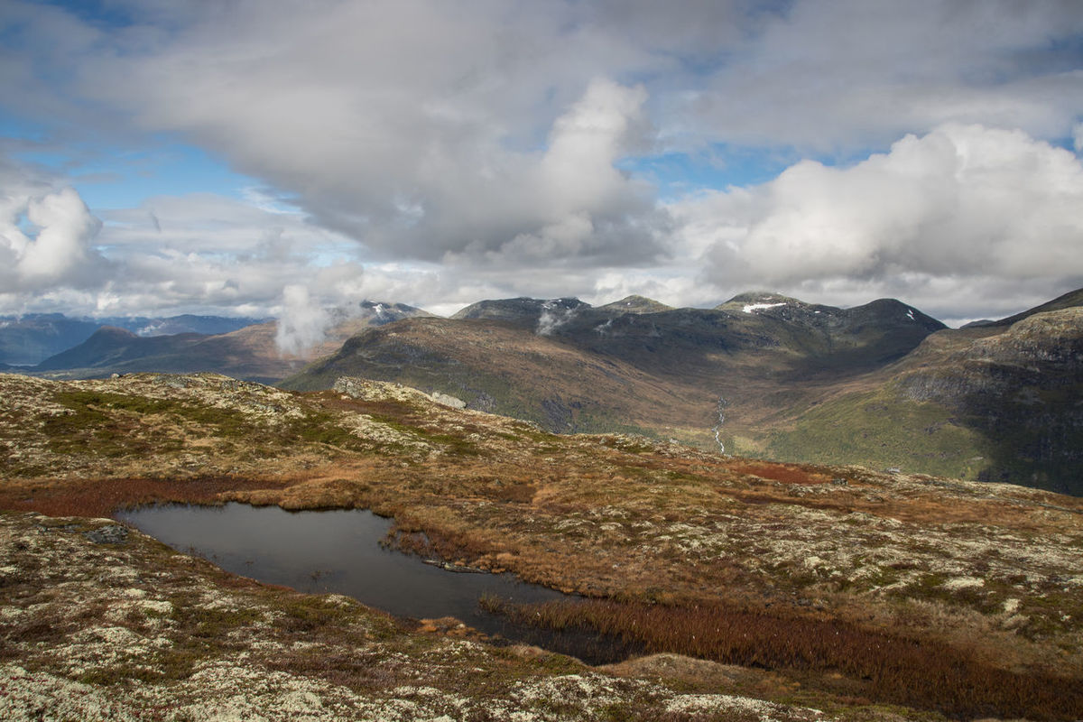 Hiking on Hoven in Norway Hiking Wanderlust Norway Hoven Loen Loen Skylift Adventure View Water Mountain Range Mountain Cloud - Sky Mountain Range Landscape No People Scenics Nature Outdoors Sky Travel Destinations Vacations Beauty In Nature Day