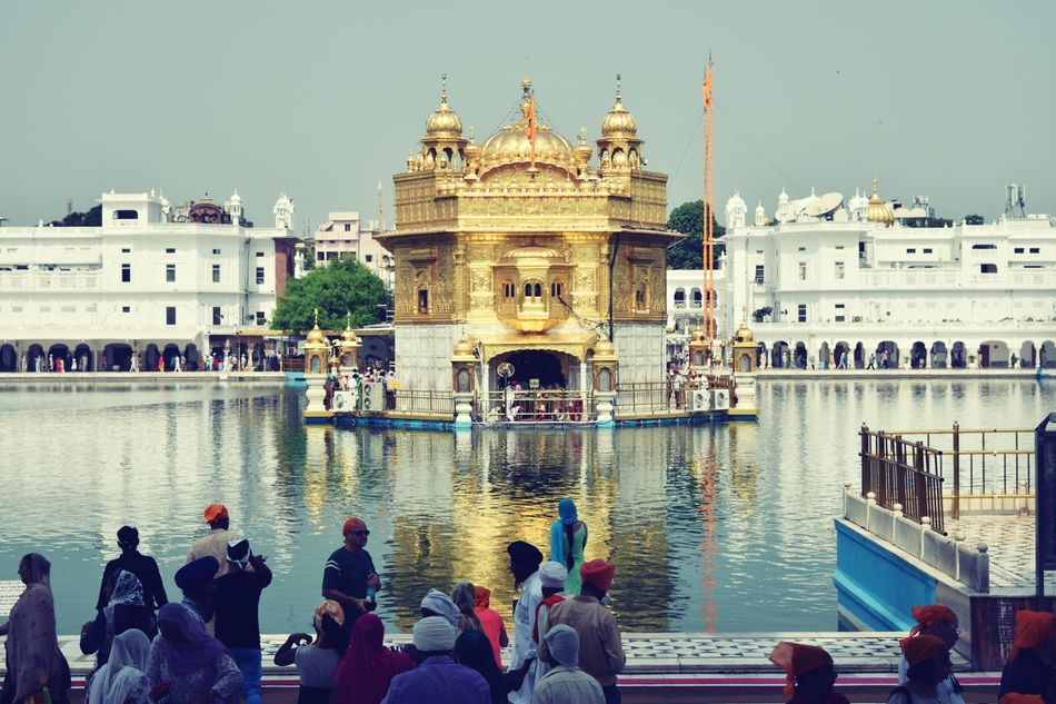 Golden Temple Amritsar Punjab picture 2 Sikh Temple Religious  Religion Compassion Holywater  Gold Soulful Cloud - Sky History Water Sky Reflection Architecture Myfavoriteplace Travel Destinations Favorite Places Peaceful Place