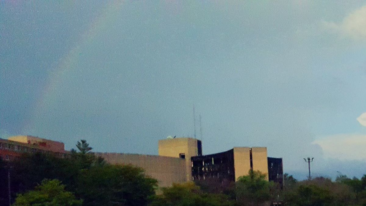 Beauty amongst rubble and decay. Indiana Hospital Rainbow Beauty In Ordinary Things Ordinary Life Random Mylife Mylife