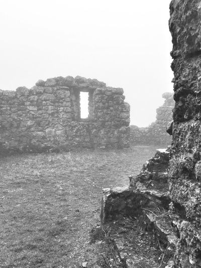 Fog Foggy Day Windy Cold Winter Raining Castle Ruin Ruins Blackandwhite Photography Tadaa Community Taking Photos Visiting Me, My Camera And I Melancholic Mysterious Switzerland