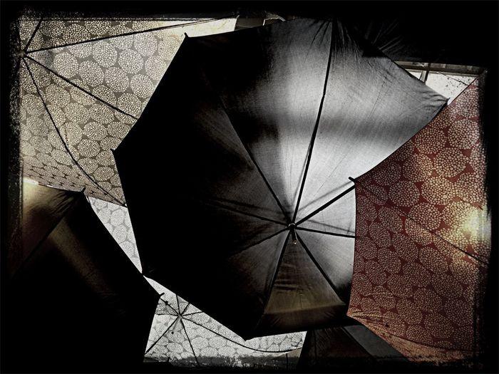 Relaxing breakfast decoration umbrellas