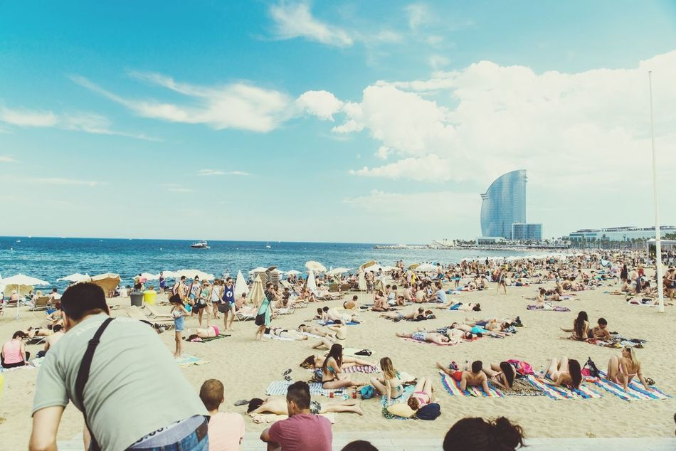 Beautiful stock photos of spain, Barcelona, Beach, Blue, Cloud