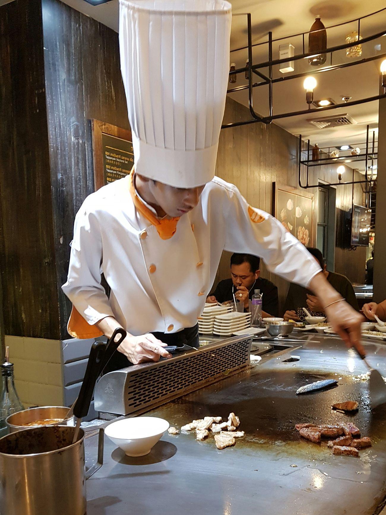 Bangkokeater Tepanyaki Chef Japanese Style Food Republic S7edgephotography Siam Center Tepanyaki No Filter, No Edit, Just Photography