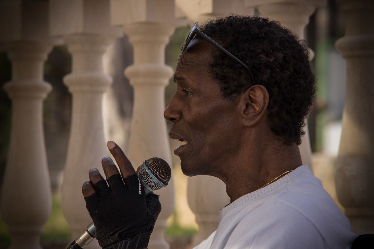 Black People Charles Role Concert Focus On Foreground Headshot Live Live Music Mallorca Men Musician One Person Peguera Real People Singer