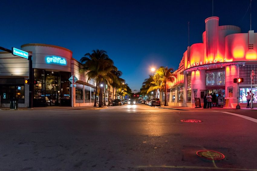 Illuminated Night City Neon Building Exterior Architecture Travel Destinations Outdoors Built Structure Nightlife No People Miami Miami Beach Holiday