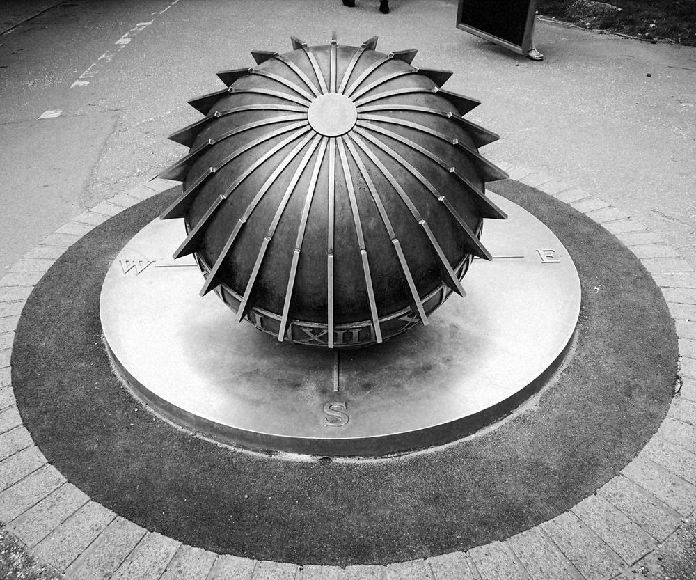 No People Sun Dial Art Art Is Everywhere LONDON❤ Outdoors Black And White Photography Metal Artwork Symmetry Symmetrical Symmetryporn Day