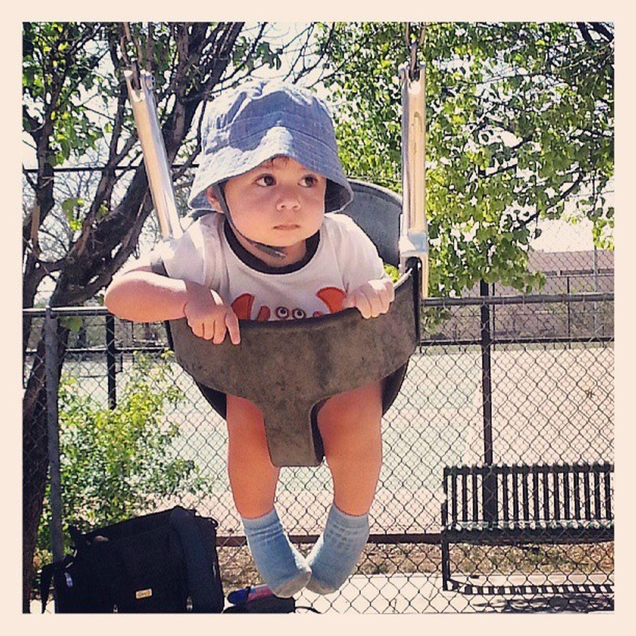 Looksscared Swings Dayatthepark Sunhat