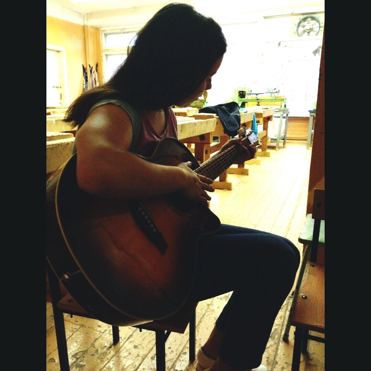 Gitarre Daydreaming Class Beautiful Day Relaxing