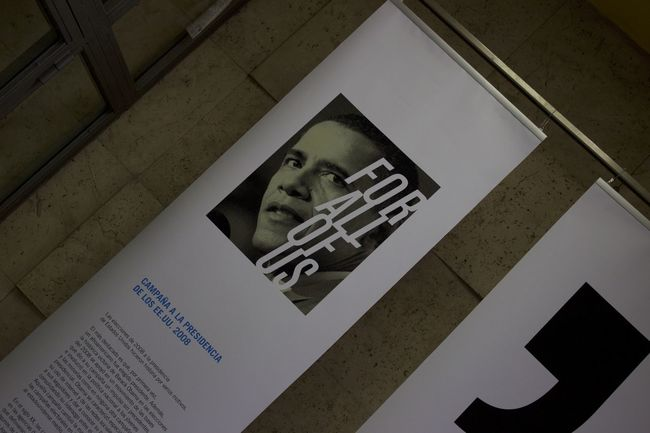 Close-up Day Desing Exposition Information Madrid No People Obama