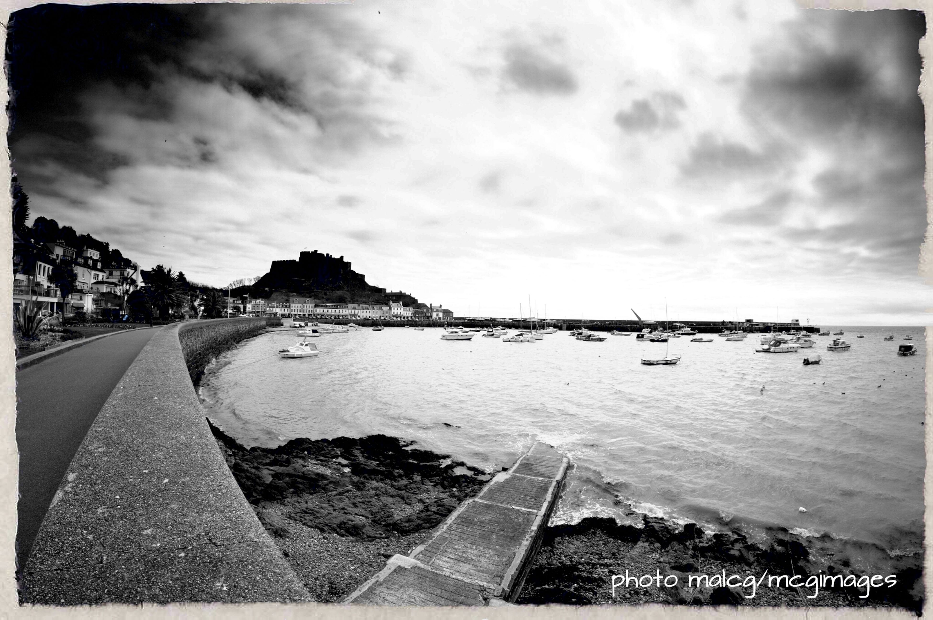 Gorey, with Mont Orgueil castle in the background, shot this morning.