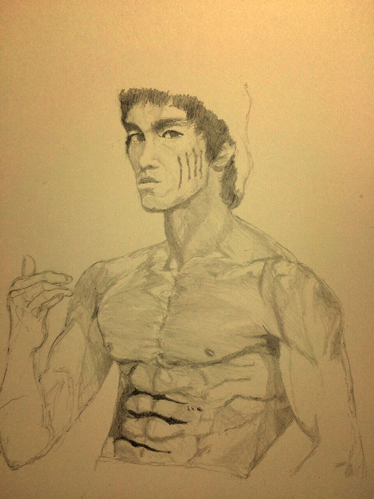 Brucelee Bruce Lee 李小龙 ブルースリー MyDrawing Art, Drawing, Creativity Hello World ArtWork Drawing