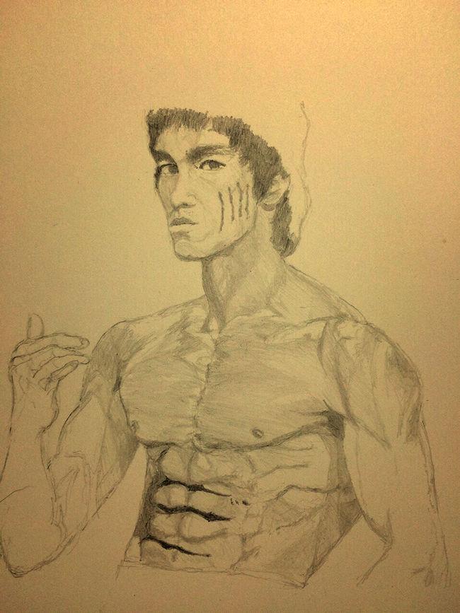 Brucelee Bruce Lee 李小龙 ブルースリー MyDrawing Art, Drawing, Creativity Hello World ArtWork Drawing