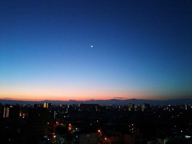Taking Photos Hi! Hello World Sky Amazing View Cloud And Sky Beutiful  Moon Osaka-shi,Japan