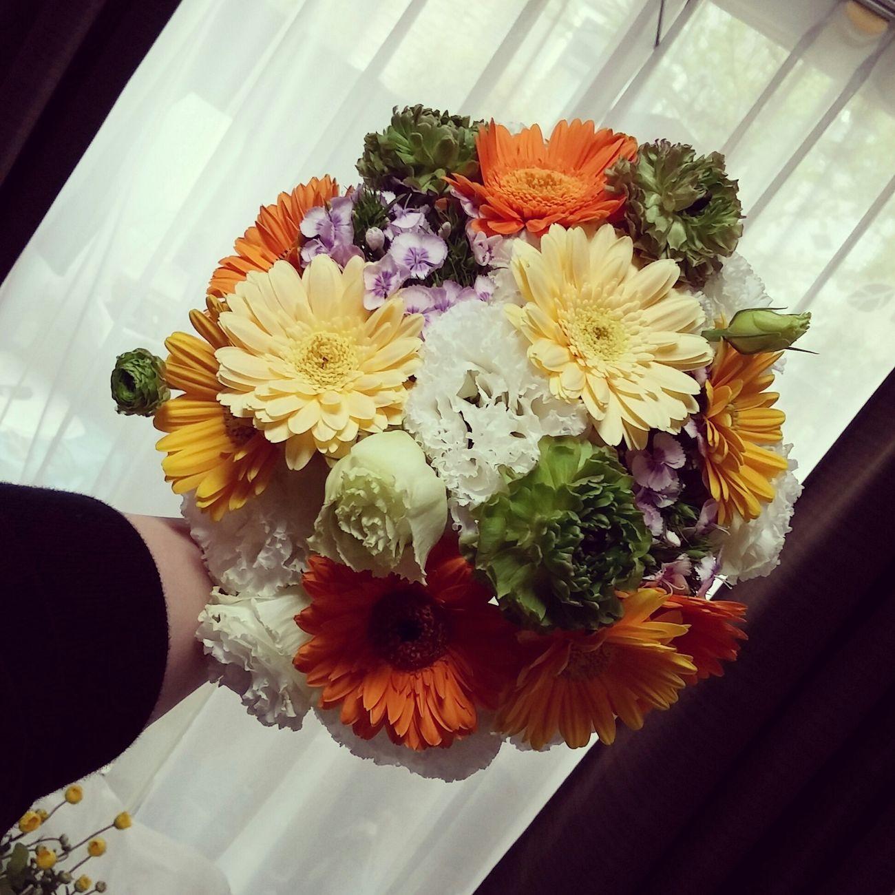 ブーケ 花束 Flower ラウンドブーケ ガーベラ トルコギキョウ ラナンキュラス ヒゲなでしこ