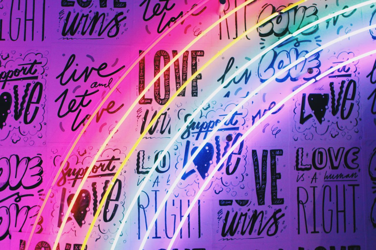 Light Neon Neon Lights NYC ArtExplosion Color Bushwick Refinery29 29rooms Light And Shadow Love Quotes Rainbow Rainbow Colors Wallpaper