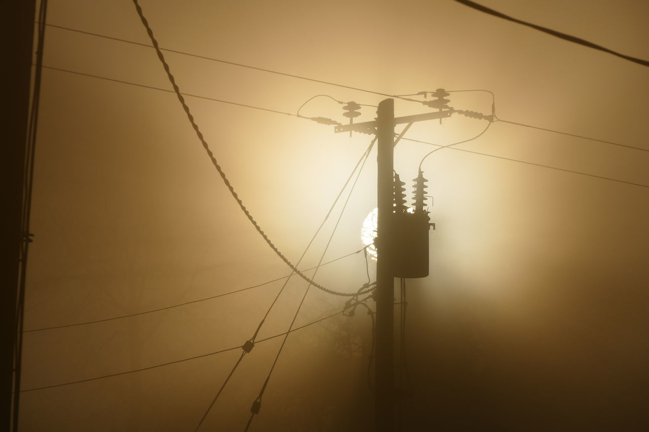 Foggy day.. Connection Day Dream States Electricity  Electricity Pylon Ethereal Fog Foggy Foggy Weather Low Angle View No People Outdoors Silhouette Silhouette_collection Sky Softness