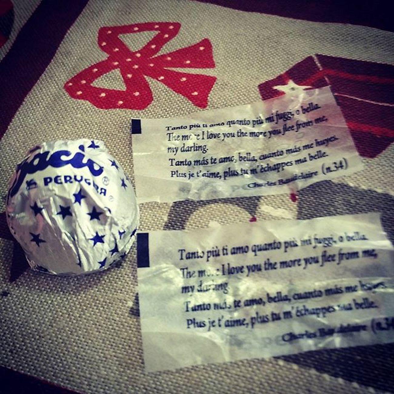 Due Baci Stesso Messaggio Baudelaire Perugina Chocolate Xmas Natale  Coincidence