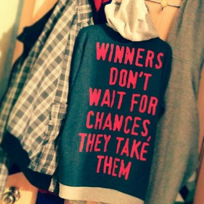 Winners don't wait for chances, they tale them Talent Win Lema Metas logo brand winners